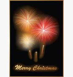 fireworks card vector image
