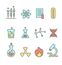 Scientific experiments chemistry and bio vector image