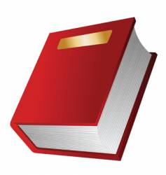 the red book vector image vector image