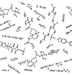 chemistry pattern vector image vector image