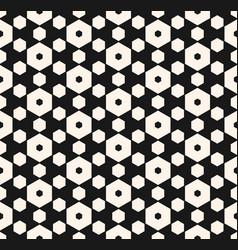 dark hexagon seamless pattern with honeycomb vector image