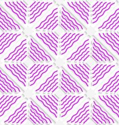 Diagonal magenta wavy lines pattern vector image vector image