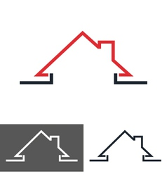 house home logo icon vector image