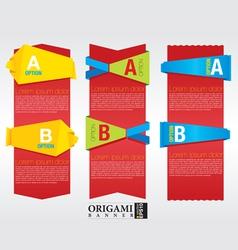 Vertical origami banner EPS 10 vector image