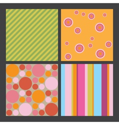 4 colorful graphic patterns vector image
