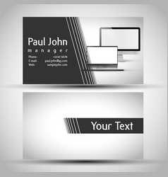 abstract business card front and back design vector image
