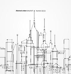 Abstract urban circuit vector