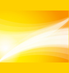 abstract yellow wave rays background vector image