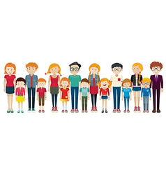Adults and kids standing vector image