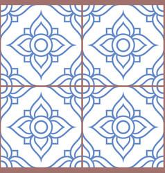 azujelo lisbon tiles seamless pattern vector image