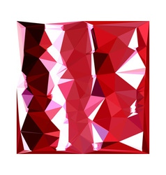 Barn Red Abstract Low Polygon Background vector image