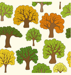 beautiful seamless pattern hand drawn doodle vector image