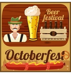 Beer Oktoberfest concept cartoon style vector image