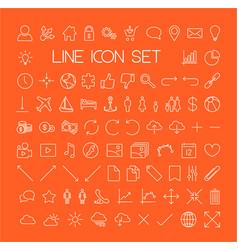 Big modern thin line icon set vector