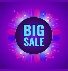 big sale concept fantasy violet banner vector image