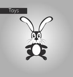 Black and white style icon toy hare vector