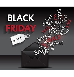 Black friday document template vector image