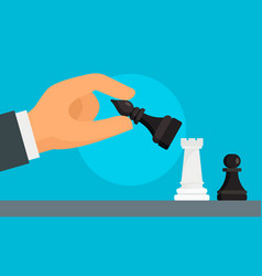 business chess strategy concept background flat vector image
