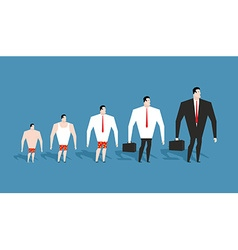 Business evolution development of simple worker in vector