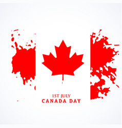 Canadian flag in grunge style vector