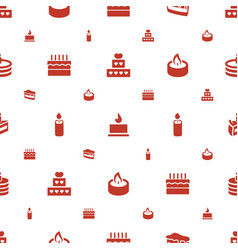 candle icons pattern seamless white background vector image