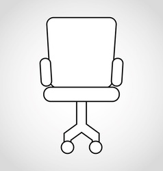 Chair office vector