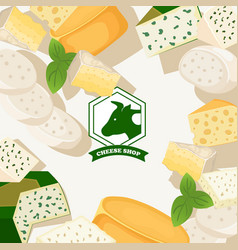 cheese shop background vector image