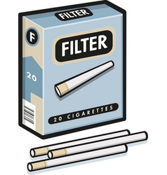 cigarettes pack in flat style vector image