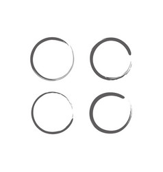 Circle zen set vector