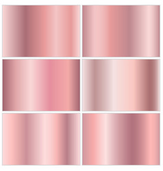 collection of golden gradients vector image