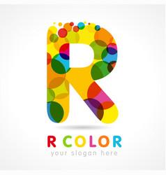 colored r logo concept vector image