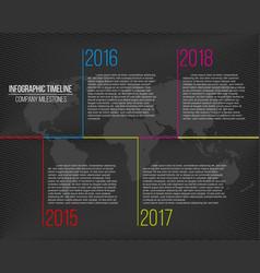 Creative of company milestones vector