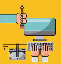 Creative process flat vector
