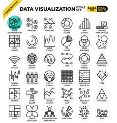 Data visualization icon set vector