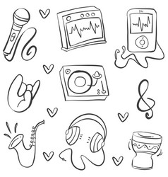 Doodle of music vector