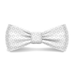 dotted white bowtie icon realistic style vector image