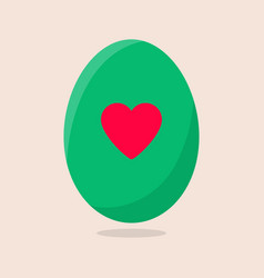 easter egg isolated on beige background vector image