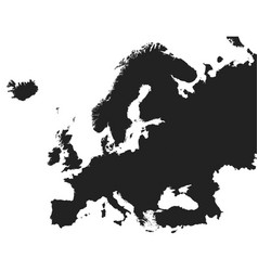europe map icon flat europe sign symbol with on vector image