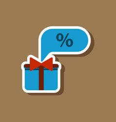 Fashion patch sale sticker gift box discount vector