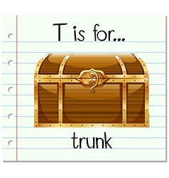 Flashcard letter T is for trunk vector image