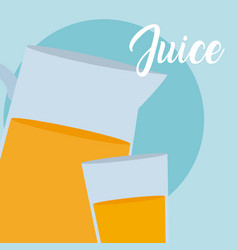 fresh juice jar vector image