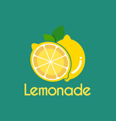fresh lemonade slice logo design template vector image