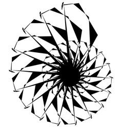 geometric circular spiral abstract angular edgy vector image