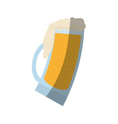 Glass cold beer image shadow vector