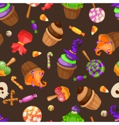 Halloween candy seamless pattern Texture with vector image