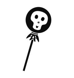 halloween lollipop icon simple style vector image
