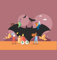 happy halloween party celebration flat vector image