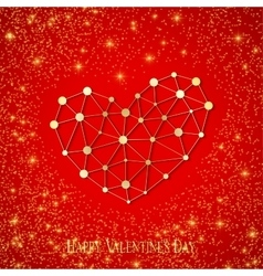 Happy Valentines Day Connected lines and dots vector image