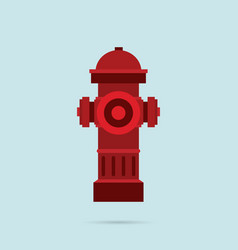 hydrant icon flat style eps10 vector image