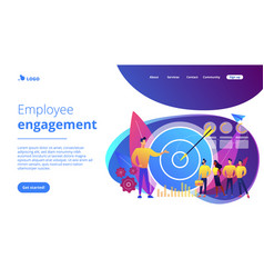 Internal marketing concept landing page vector
